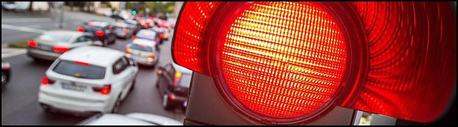 Bussgelder, Punkte für das rote Ampel überfahren