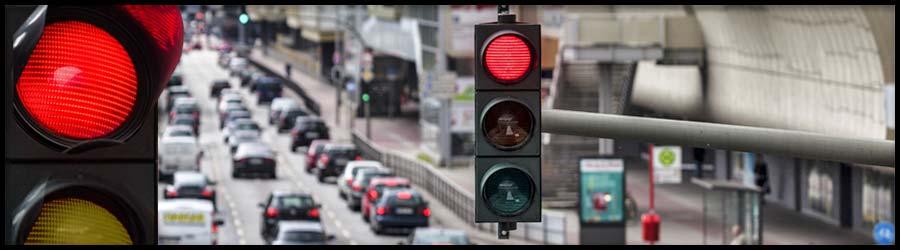 Bussgelder, Punkte für das Überfahren einer rote Ampel
