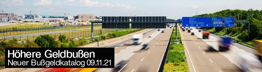 Bussgeldkatalog STVO Novelle 09.11.2021