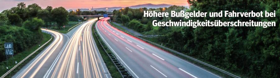 Bussgeldkatalog STVO Novelle