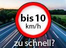 Überschreitung der Höchstgeschwindigkeit außerorts LKW um bis 10 Km/h