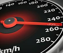 Überschreitung der Höchstgeschwindigkeit